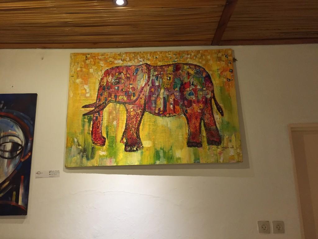 Angelina's Giant Orange Elephant